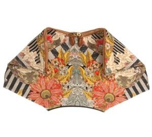 Alexander McQueen Folklore De-Manta print clutch, $475