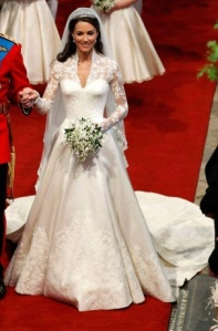 Catherine Middleton dressed by Alexander McQueen