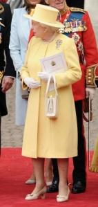 Queen Elizabeth II  Angela Kelly dress and hat