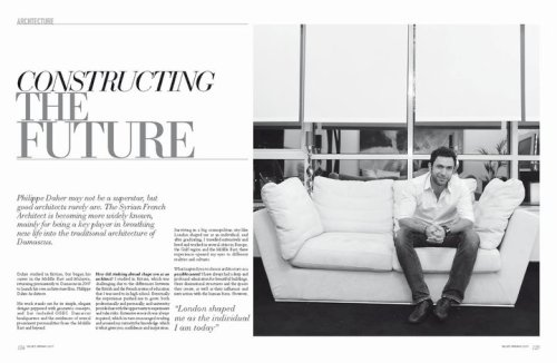 Architecture section in Velvet magazine issue 2