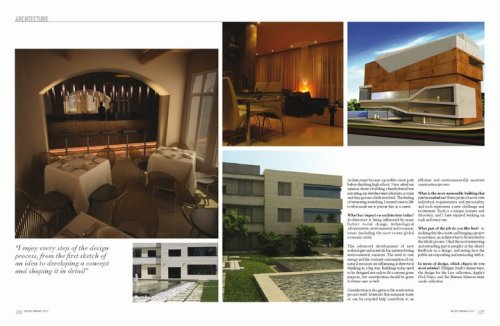 Architecture section in Velvet magazine issue 2