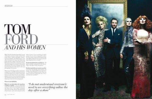 Tom Ford and his women