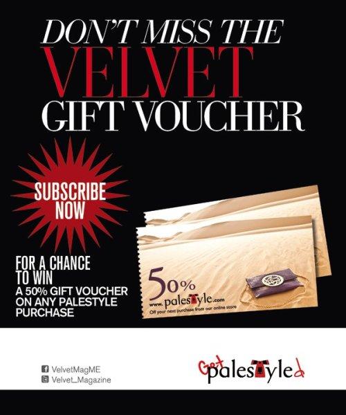 Don't miss the Velvet gift voucher