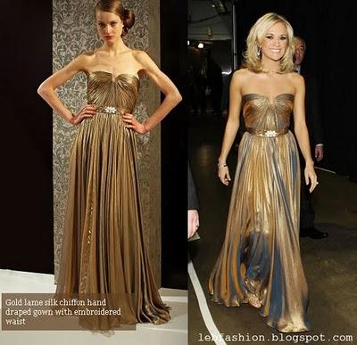 Carrie Underwood in Reem Acra