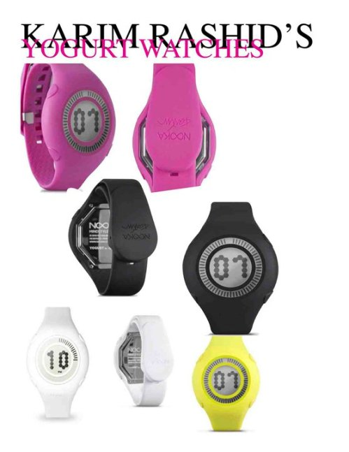 Karim Rashid's Yogurt watches