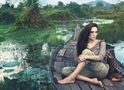 "Angeline Jolie by Annie Leibovitz  for Louis Vuitton ""Core Values"" Campaign"