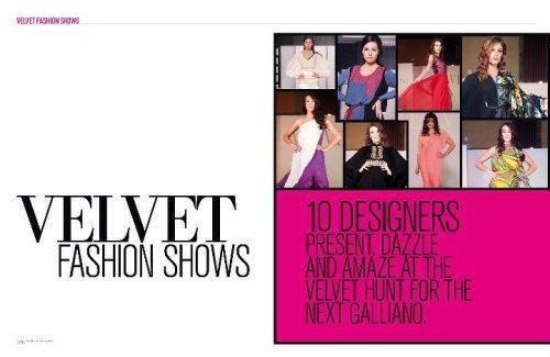 Fashion shows is Velvet magazine issue 3