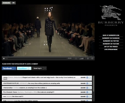 Burberry Live 3D Fashion Show