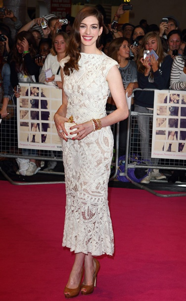 "Anne Hathaway @ the premiere of the movie ""One Day"" in London"