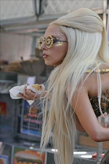 Lady Gaga seen doing a photoshoot for Vanity Fair In New York City