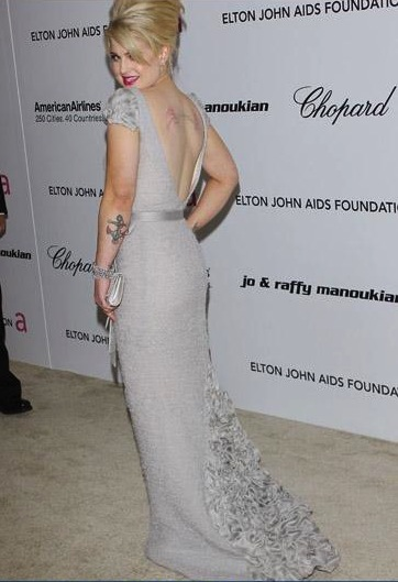 Kelly Osbourne dressed by Tony Ward